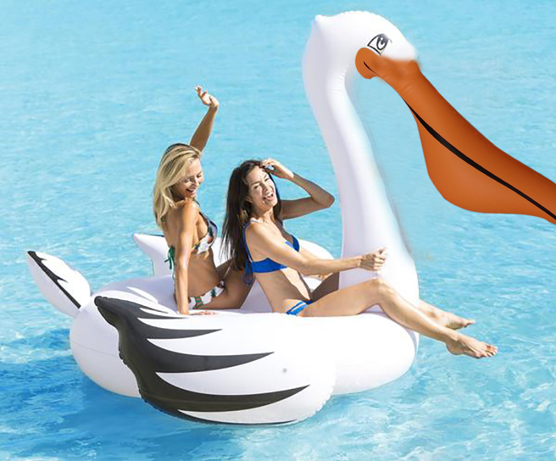 Inflatable Giant Pelican Pool FloatRide On Woodpecker Swimming Ring Holiday Water Fun Pool Toys Mattress Floating Island Piscina