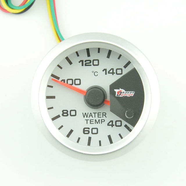 2 inch White Shell  water temperature gauge Auto gauge Celsius automotive temperature gauge 7 color Backlight  free shipping