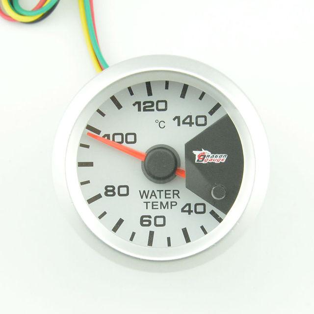 2 polegada Branco Shell medidor de temperatura da água medidor de Auto medidor de temperatura Celsius automotivo Backlight de 7 cores frete grátis