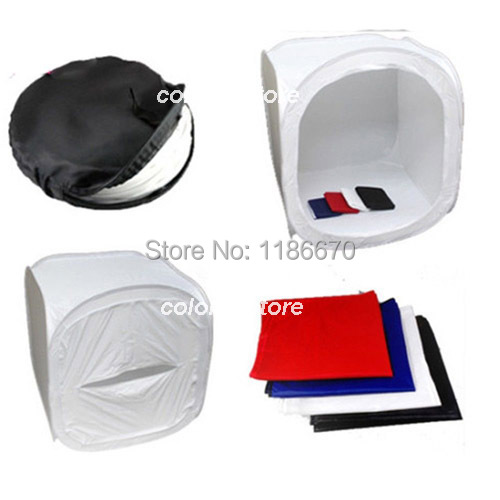 75 x 75 x 75cm 30 Collapsible Photo Photography Studio Light Lighting Tent Soft Box Softbox for SLR Camera Film+4 Backdrops P01 4 55w color soft lights lamp stage lighting film and television studio