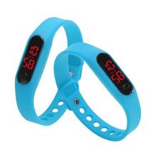 MEIBO 2017 Candy Color Men's Women's Watch Rubber LED kids Watches Date Bracelet Digital Sports Wristwatch for student