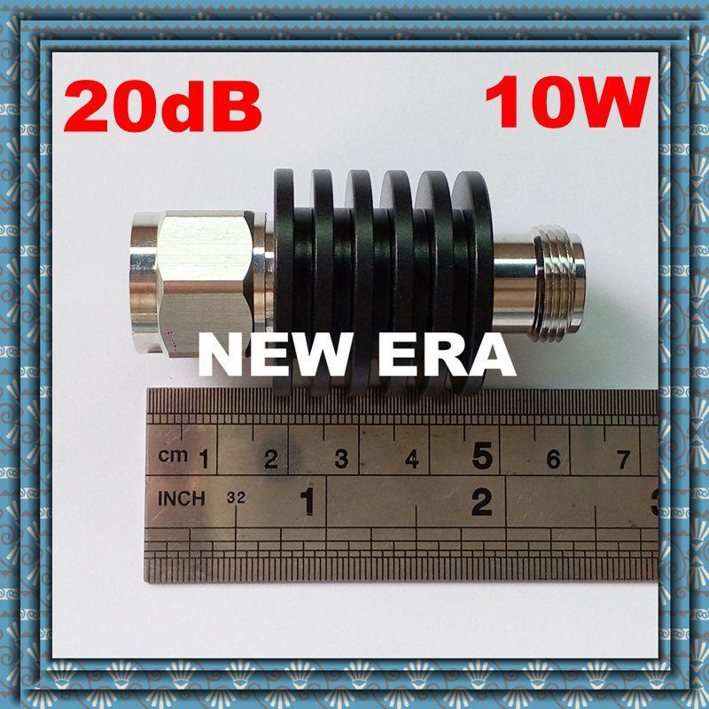 10W RF Attenuator Coaxial DC-3GHz N-type 20dB,Free Shipping free shipping 10w rf attenuator coaxial dc 3ghz n type 6db