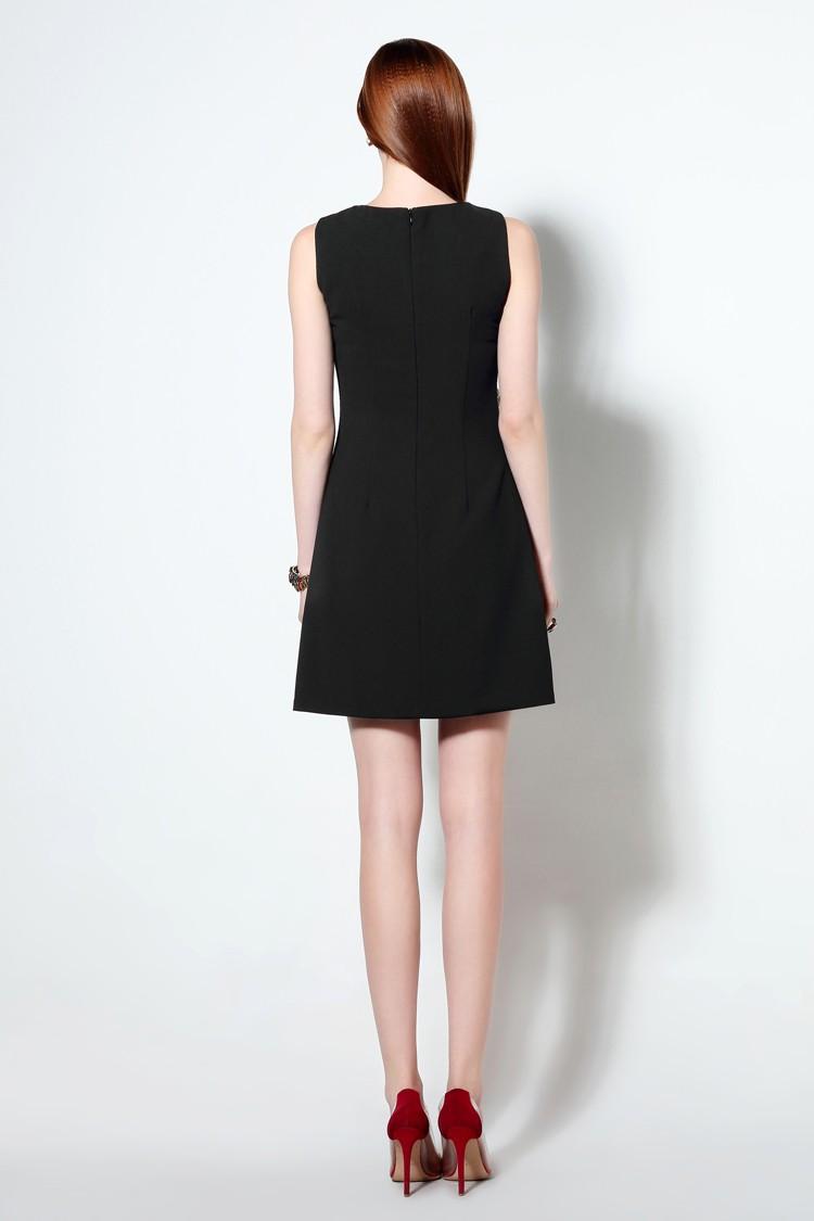 HTB1mY08MXXXXXXlXpXXq6xXFXXXF - 2016 г. женские хлопковое платье с вышивкой повседневные платья без рукавов короткое платье футляр черный белый цвет Вязание плюс размер xxl