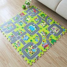 9pcs/set 30*30cm Living Room bedroom Children Kids Soft Carpet Magic Patchwork Jigsaw Splice Heads Climbing Baby Mat 1pcs