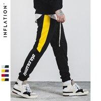 INFLATION 2017 New Autumn Mens Sweatswear Pants Printing Side Stripe Pockets Men Vintage Sweatpants 353W17