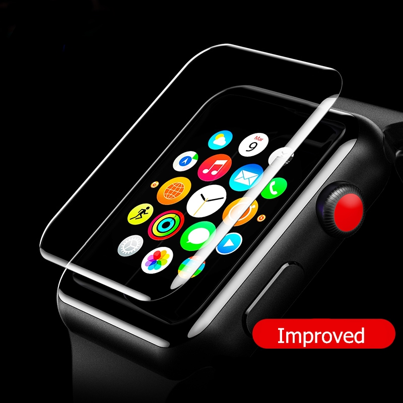 38mm 42mm Clear Soft TPU Screen Protectors Film For Apple Watch Series 1 2 3 Full Coverage Screen Protective Cover Watch Band tpu clear slim soft case cover 38 42mm cover screen protector film accessories for apple watch 1 2 3