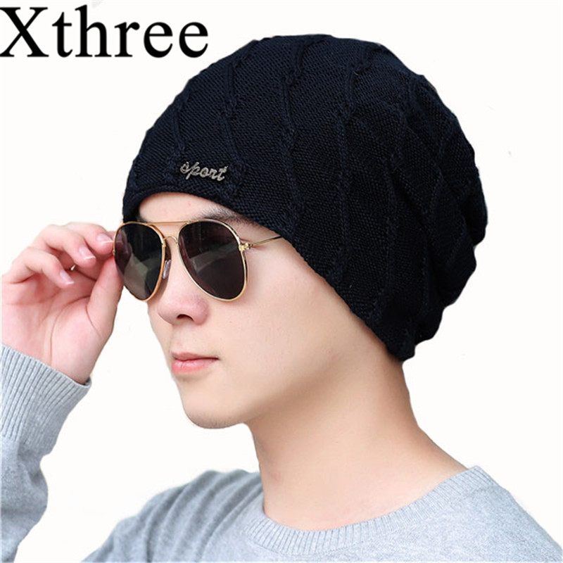 Xthree Winter Hats Skullies Caps Gorras-Bonnet Keep-Warm Women Lining Male for Men's