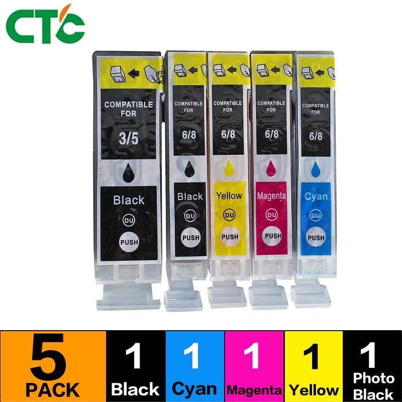 5PCS ink cartridge PGI5BK Compitalbe For canon IP4200 IP4300 IP4500 IP5200 IP5200R IP5300 MX700 MX850 MP500 MP510 MP520 MP530