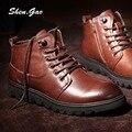 Зимние высокого верха мужская обувь действительно Пима Дин сапоги сапоги плюс бархат мягкой обуви