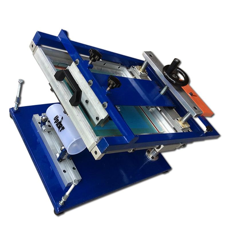 Cylinder Manual Screen Printing Machine, Hand Small Curve Screen Printing Machine, Manual Round Screen Printing Machine