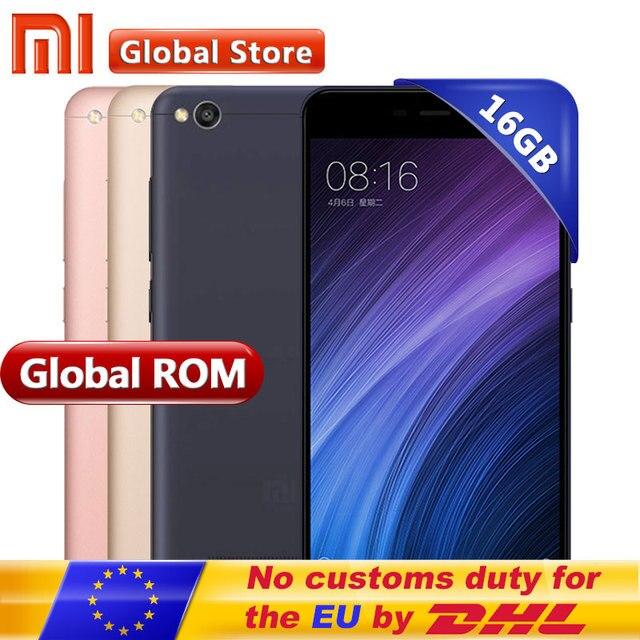 """Оригинальный Xiaomi Redmi 4A 2 ГБ 16 ГБ мобильного телефона Redmi 4A 2 ГБ 16 ГБ Snapdragon 425 4 ядра cpurom 5.0 """"13.0MP"""