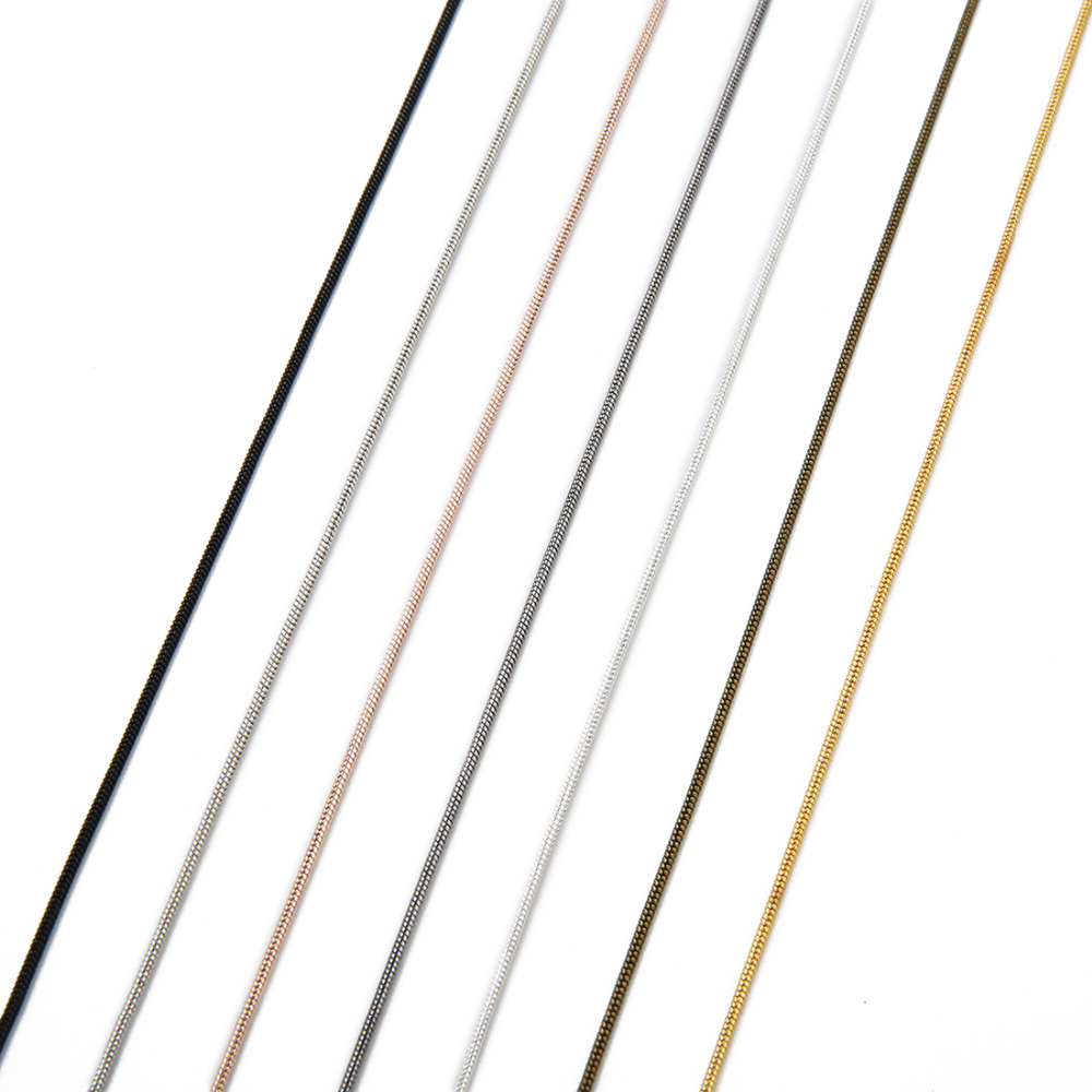Металлическая медная длинная змеиная цепочка 15 мм 10 ярдов/рулон