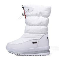 new Winter warm 1pair waterproof Snow Boots Girls Flower Fashion Shoes Children Boots , -40 degrees Kids Snow Boots