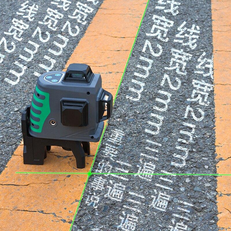 Nowy 3D zielony laser poziom samopoziomujący 360 poziome i pionowe krzyż zielony laser wiązka laserowa