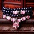 Браслеты натуральный голубой песок камни бусины розовый опал браслет фокс ручной ретро ювелирные изделия оптовая продажа 0244