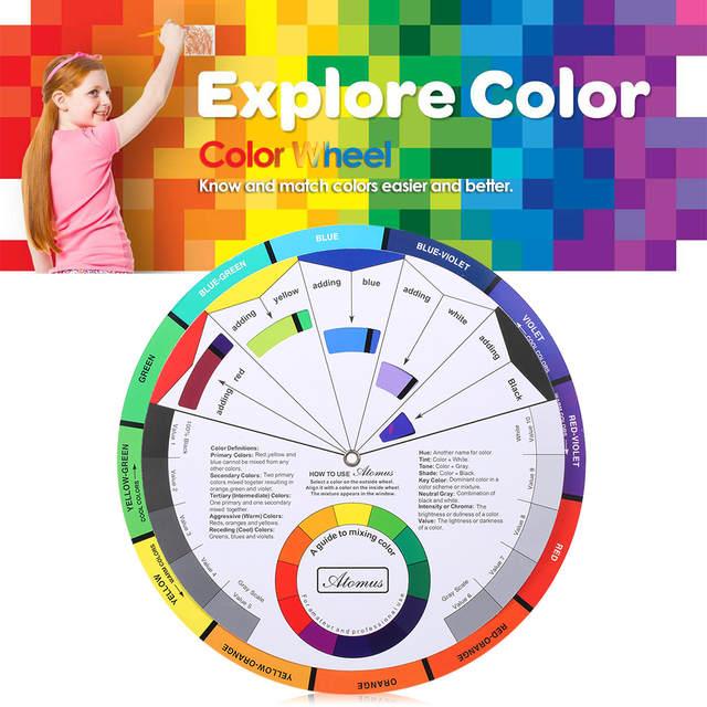 Online Shop Double Sides Tattoo Pigment Color Wheel Chart Color Mix
