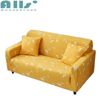 Yellow Paper Plane Universal Stretch Furniture Covers For Living Room Couch Loveseat Sofa Slipcover Home Decoration