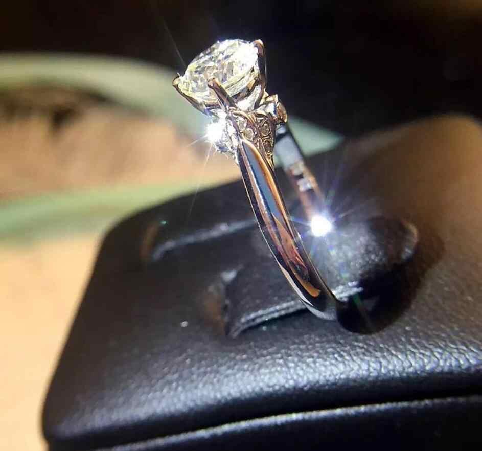 Классические роскошные ювелирные изделия Виктории из стерлингового серебра 925 пробы с круглой огранкой 5А кубического циркония вечерние женские свадебные кольца с лебедем