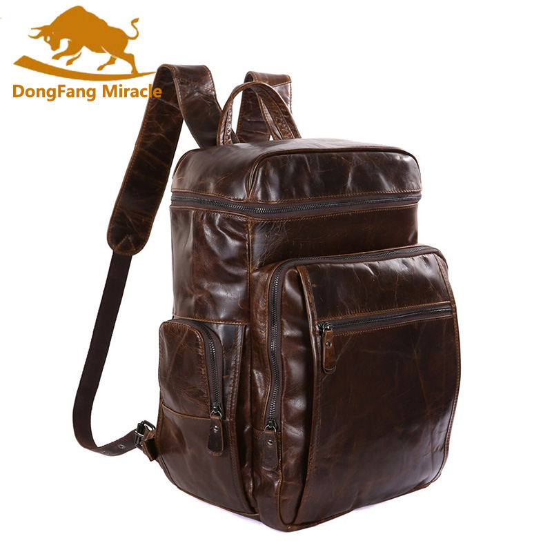 DongFang Miracle New High Quality 100% Real Cow Leather  Men