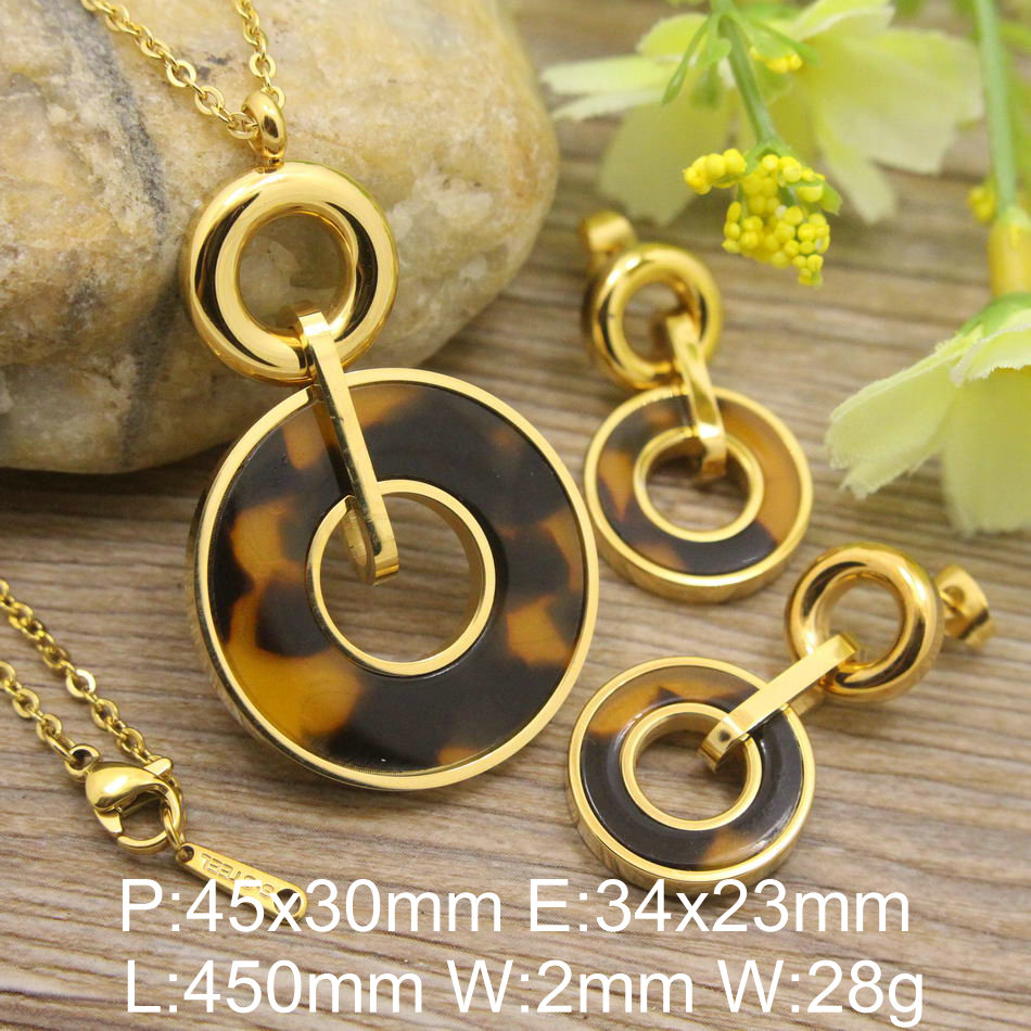 9 styles HOT Stainless Steel fashion Jewelry Popula gold color Pendant Earrings Necklace sets SBJDURCH mi learning styles page 9