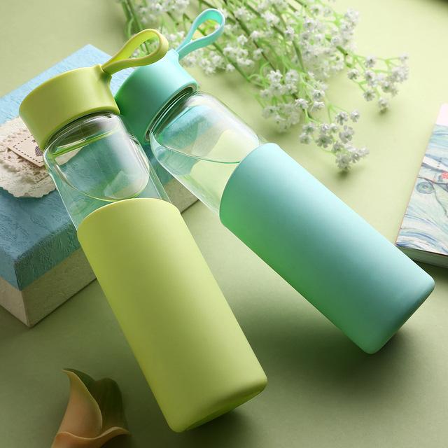 Glass Water Bottle – Leak Proof Seal – Large Capacity