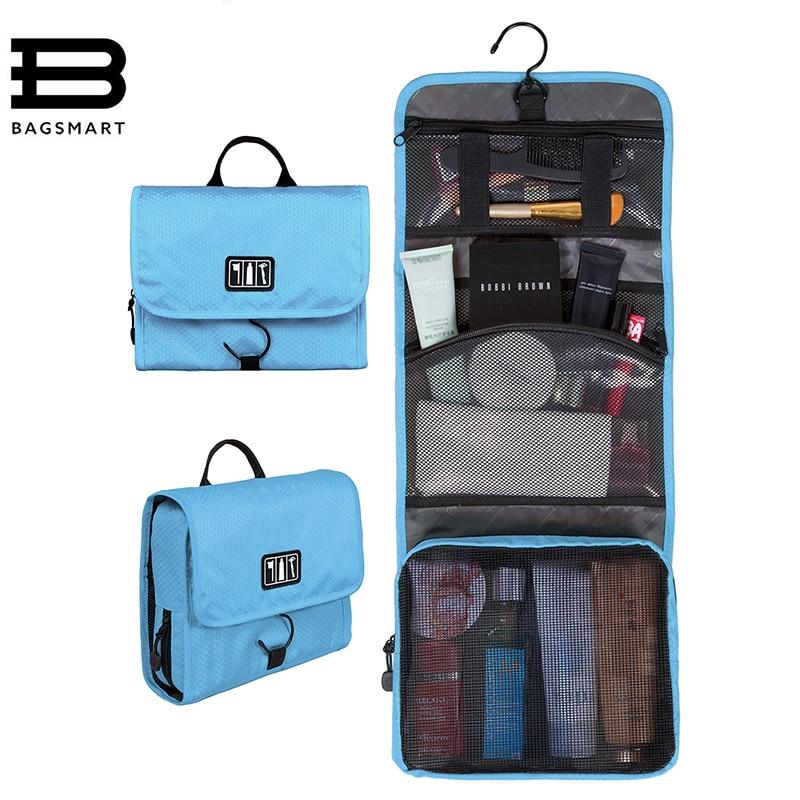 все цены на BAGSMART Waterproof Cosmetic Bag Large Women Travel Toiletry Makeup Bag Storage Multifunctional Organizer