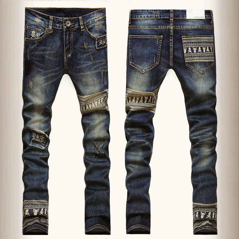 Men Skinny Straight Legs Pants Slim Fit Jeans - Malaysia Best Prices