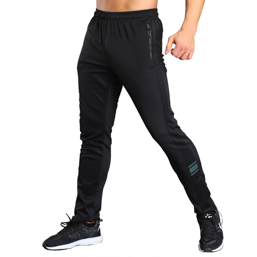 Zipper Pocket Gyms Mens Sweatpants Joggers Elastic Waist Slim Fit Fitness Workout Bodybuilding Track Pants Men Sporting XXXL ...