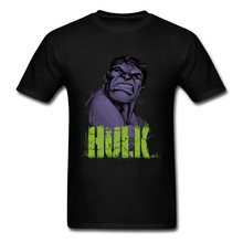 Marvel Incredible Grauw Top T-shirts Mannen Hulk T-shirt Custom Korte Mouw Kleding Korting Superheld Tshirt Zwarte Vintage Tees(China)
