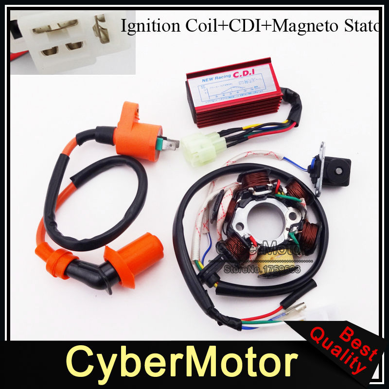 Stator Magneto Racing Ignition Coil 6 Pins Wires Ac Cdi