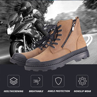 Cowhide Motorcycle Boots Motorcycle Shoes Motocross Riding Boots Motorcycle Protection Botas Moto Biker Motorbike Boots