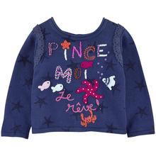 Catimini Бесплатная Доставка 2016 осень девушка трикотаж хлопок тройник волновой точки свитер пальто из девушек 31