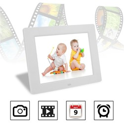 10 Inch 640*480 Resolution LCD Digital Screen Photo Frame HD Multi-Functional Built-in FLASH Mp3 And Mp4 Player alarm clock