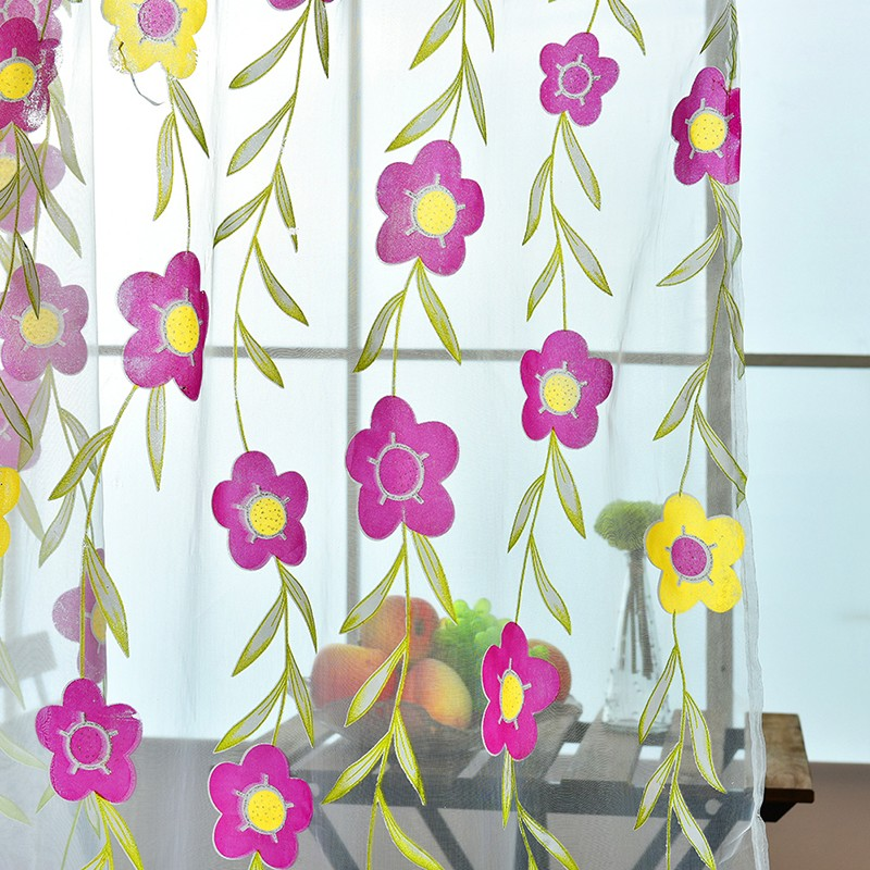 floral tulle sheer curtain (1)