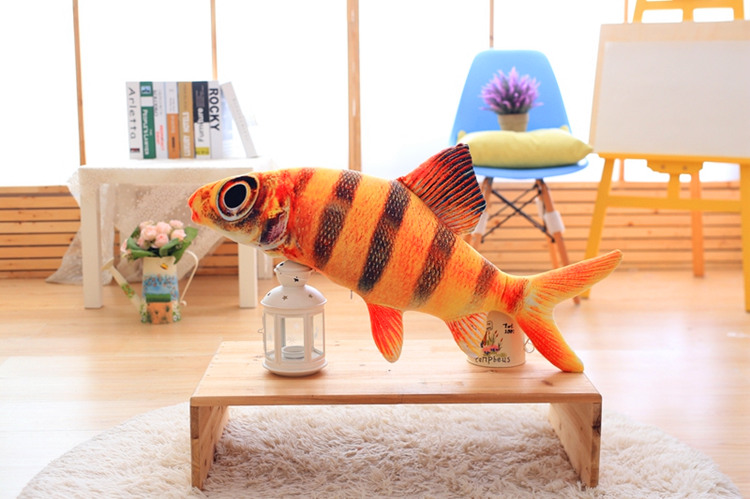 long creative plush fish toy new big eyes fish pillow doll gift about 120cm lovely giant panda about 70cm plush toy t shirt dress panda doll soft throw pillow christmas birthday gift x023