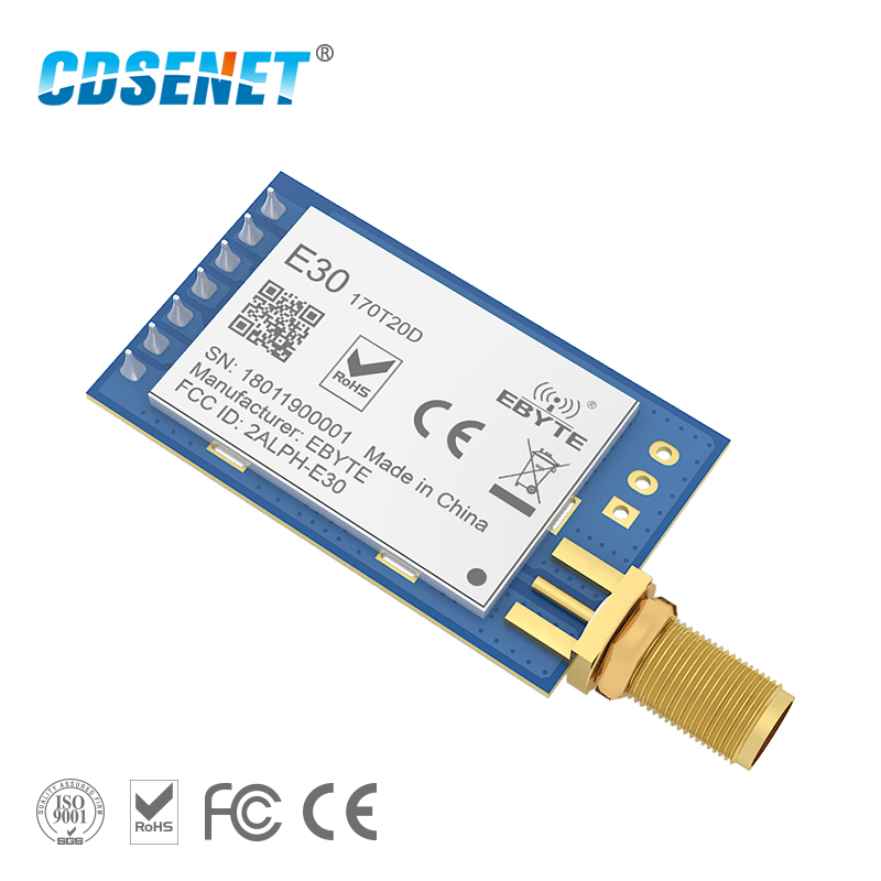 170MHz SI4463 Transceiver Rf Module Serial Port Transmitter And Receiver E30-170T20D Long Distance IOT Circuit Vhf Module