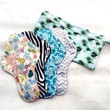 LECY ECO LIFE coussinets en tissu lourd, 4 pièces, avec un sac de rangement imperméable, serviette hygiénique super douce et réutilisable