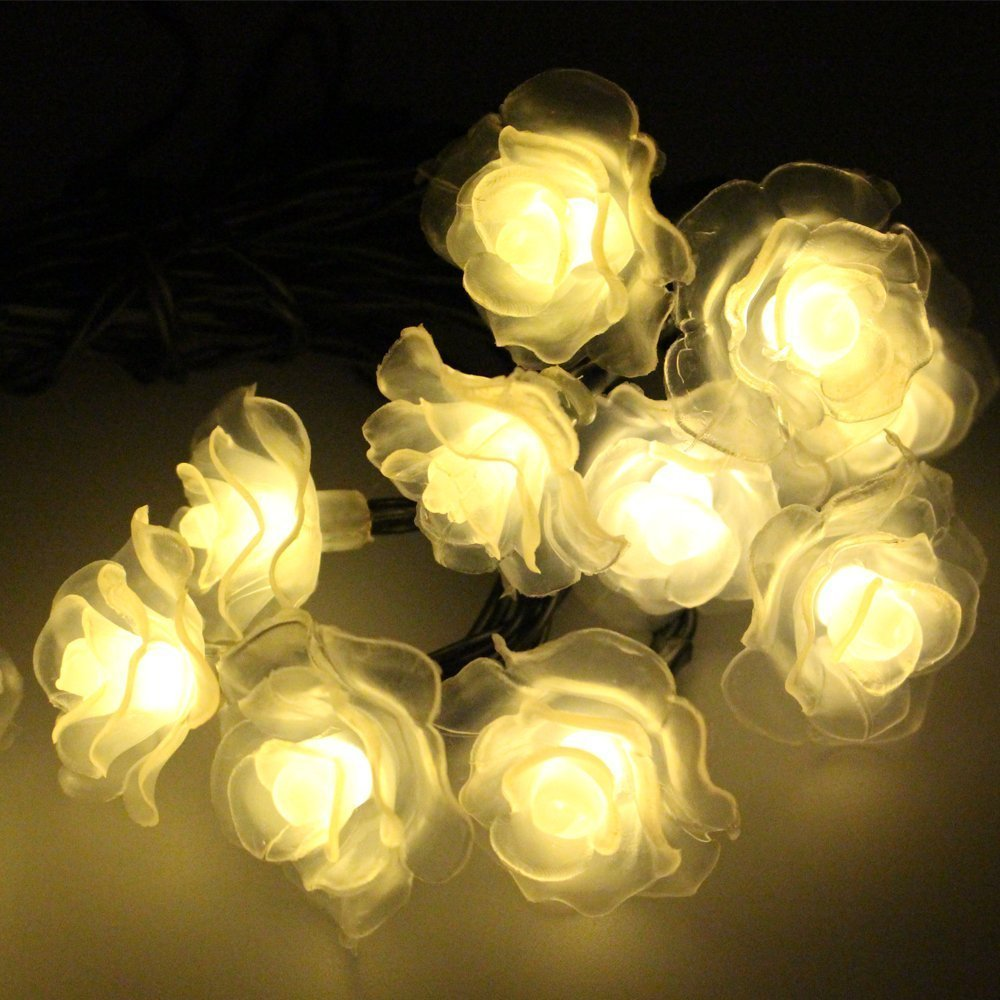 Aliexpress.com : Buy 20 LED Rose Outdoor String Lights Solar Fairy Lights Globe String Lights ...