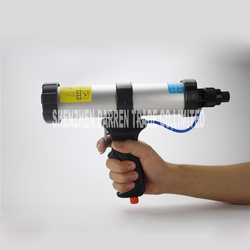 Nouvelle Arrivée 310 ML pu mastic gun air pistolet à calfeutrer, saucisse type pneumatique pistolet à calfeutrer bruit moins de 70dB verre pistolet à colle