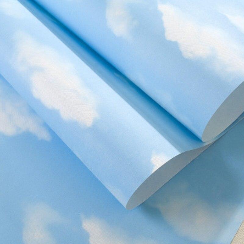 US $36.98 |Kinderzimmer Tapeten 3D Himmel und Weiße Wolke Beläge Dekoration  für Jungen Zimmer Tapete & Tapeten papel de parede 10 Meter-in Tapeten aus  ...