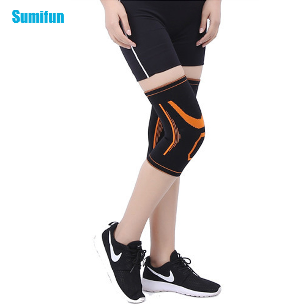 Sumifun Elastic Sport Leg Support Knee Cover Guard Volleyball Knee Brace Wrap Protector Knee Protectors Kneepad Safety Z747