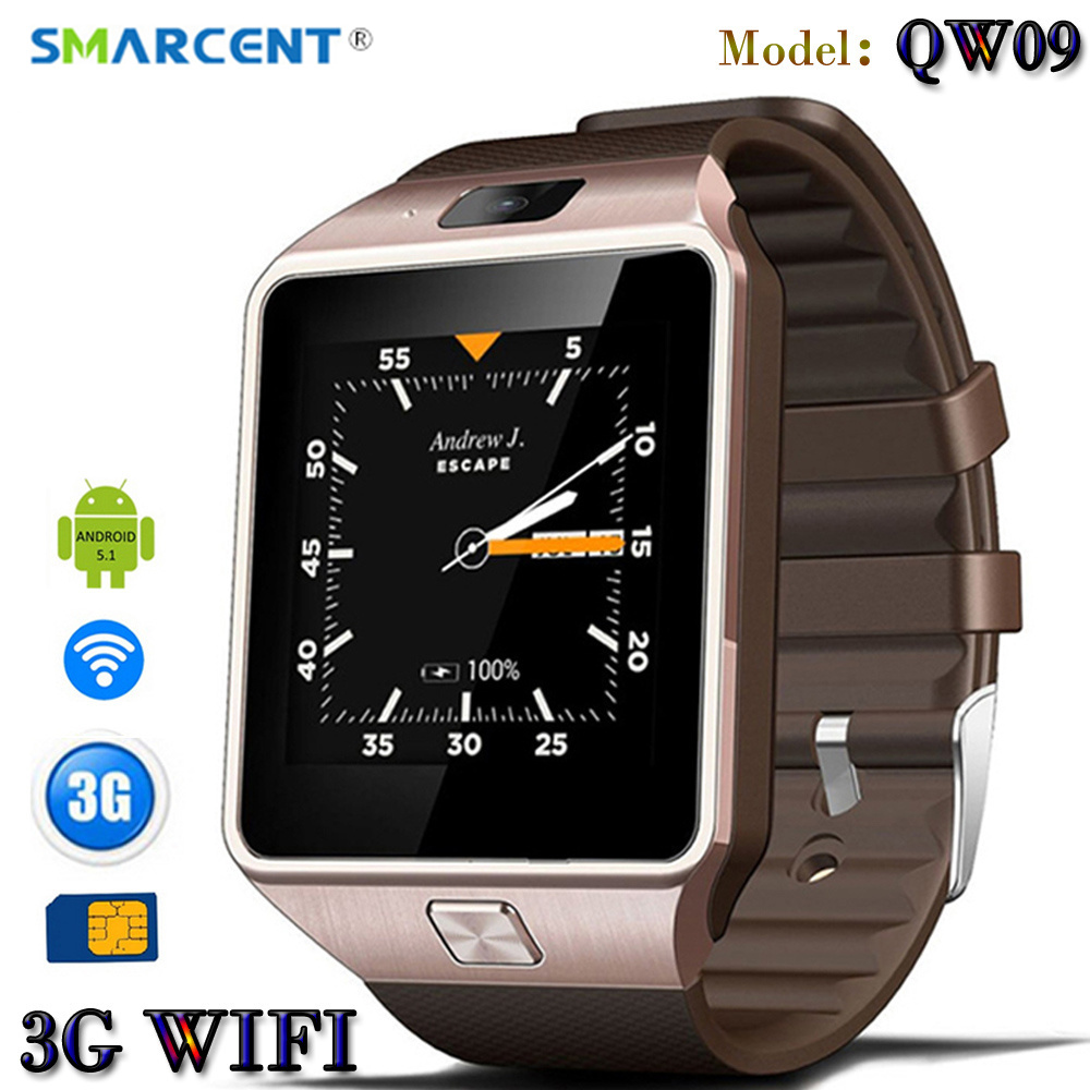 SMARCENT 3G WIFI QW09 Android font b Smart b font Watch 512MB 4GB Bluetooth 4 0