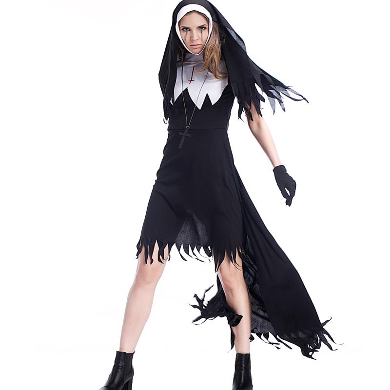 Adult Ladies Zombie Sister Mary Nun Fantasias Costumes ...