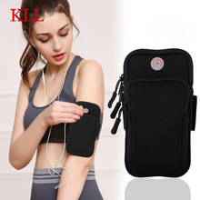 "Universal 6"" Waterproof Sport Armband Bag Running Jogging Gym Arm Band Mobile Phone Bag Case Cover Holder for iPhone Samsung"