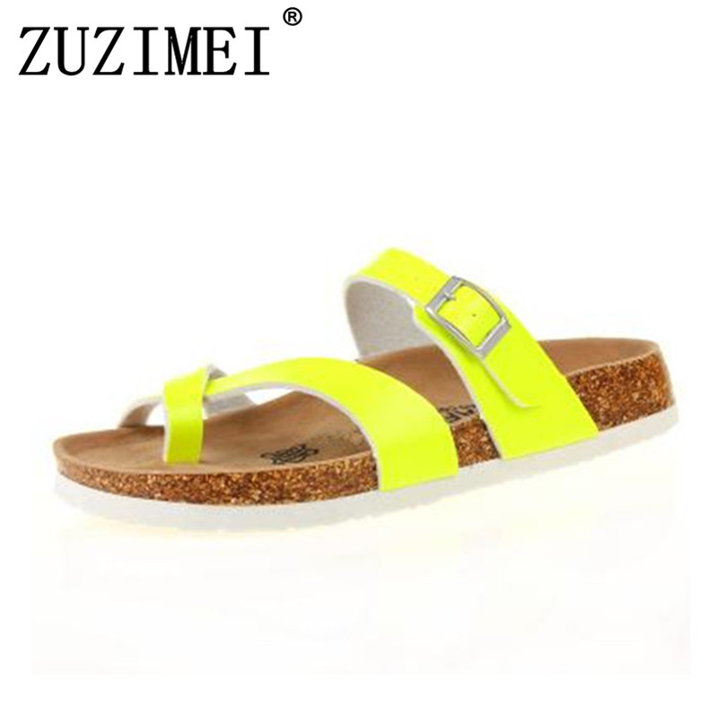 ashion Cork Sandals Slipper 2018 New Women Summer Mixed Color Casual Beach Slip on Flip Flops Slides Shoe Flat size 35-45 стоимость