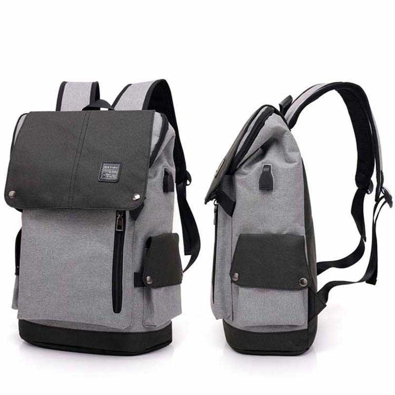 Tas Sekolah Untuk Remaja ZENBEFE Baru Kanvas Ransel Untuk Pria Ransel Perjalanan Bisnis Tas Ransel Laptop Untuk 15 Inch Laptop