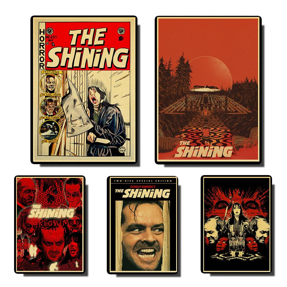 Horror Movie The Shining Vintage Posters Retro Poster Prints Wall Painting High Quality Decor Poster  Home Decoration