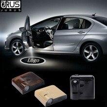 JURUS 2Pcs Car Logo Door Welcome Light For Skoda superb felicia karoq Octavia 2 LED Laser Projector Lighting Lamp