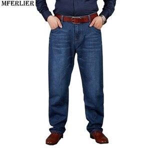 Image 3 - סתיו בתוספת גודל גדול ג ינס מכנסיים גברים 6XL 7XL 8XL 9XL 10XL מזדמן גדול ארוך מכנסיים 44 46 48 50 52 גמישות סתיו קלאסי חדש