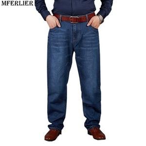 Image 3 - autumn plus big size jeans pants men 6XL 7XL 8XL 9XL 10XL casual large long pants 44 46 48 50 52 Elasticity autumn classic new
